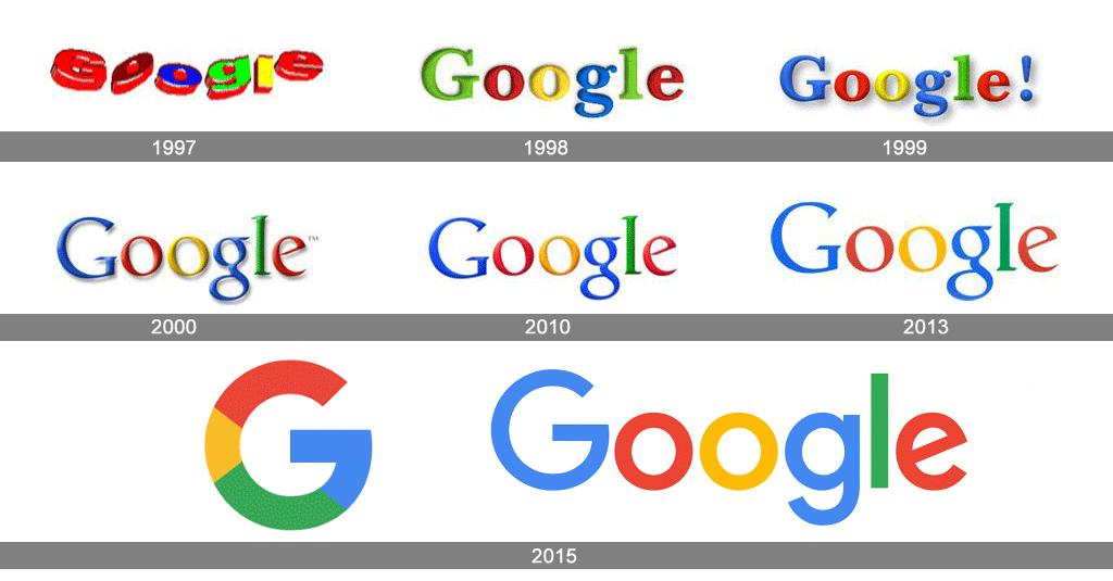 Logo Entwicklung Google