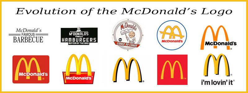 Logo Entwicklung McDonald's