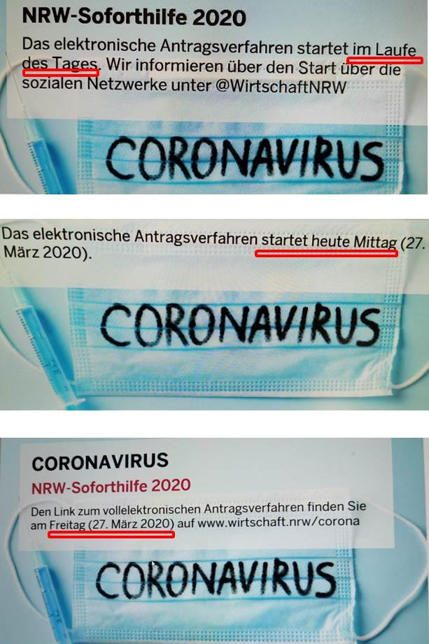 Soforthilfe Coronavirus