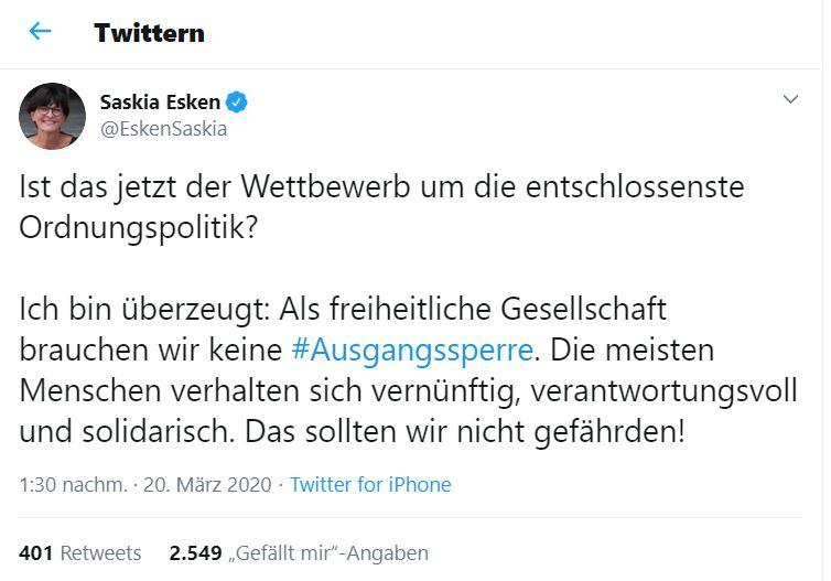 Tweet Saskia Esken